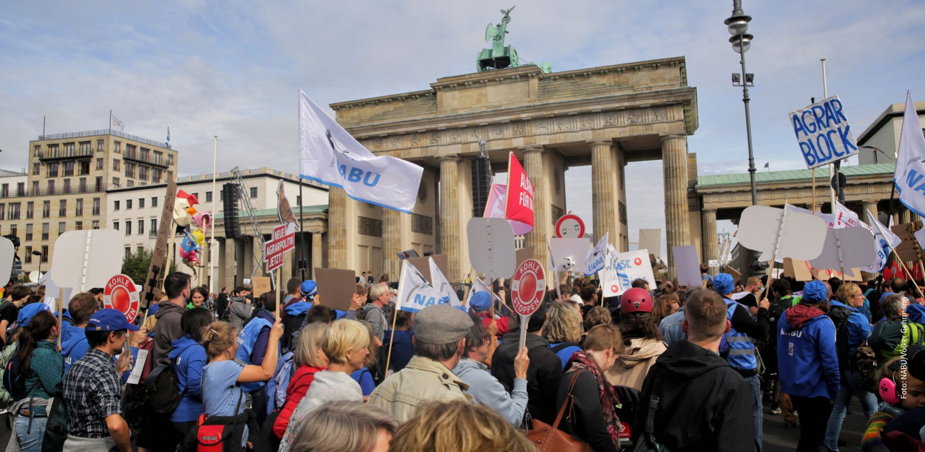 Klimastreik am Brandenburger Tor
