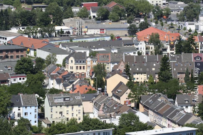 Eine Kleinstadt im Grünen