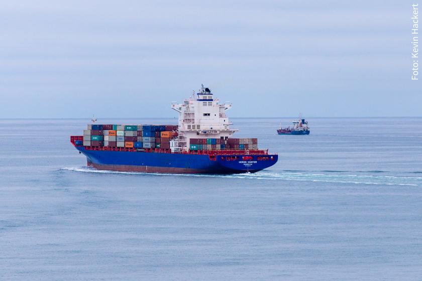 Auch die starke Schifffahrt bedroht unsere Meere