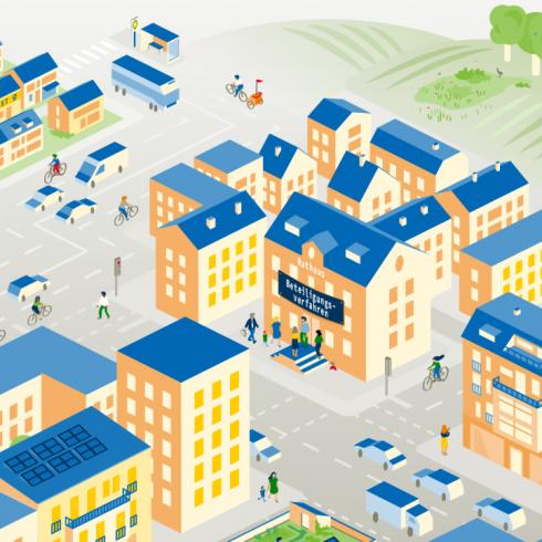 Infografik zu nachhaltiger Siedlungsentwicklung